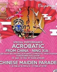 Acrobatic & Chinese Maiden Parade at Emporium Pluit Mall