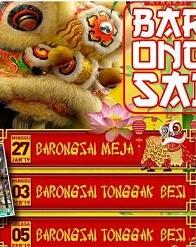 Perayaan imlek Barongsai Tonggak di Pulogadung Trade Centre