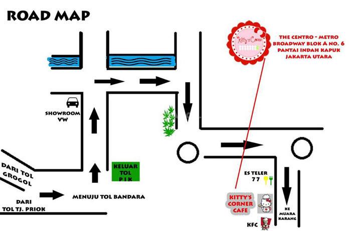 Pantai Indah Kapuk Map Pantai Indah Kapuk Jakarta