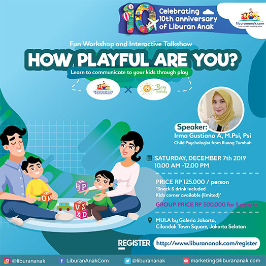How Playful Are You? a Fun Workshop and Interactive Talkshow