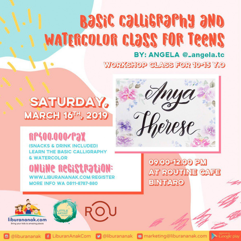 Basic Calligraphy & Watercolour Class for Teens