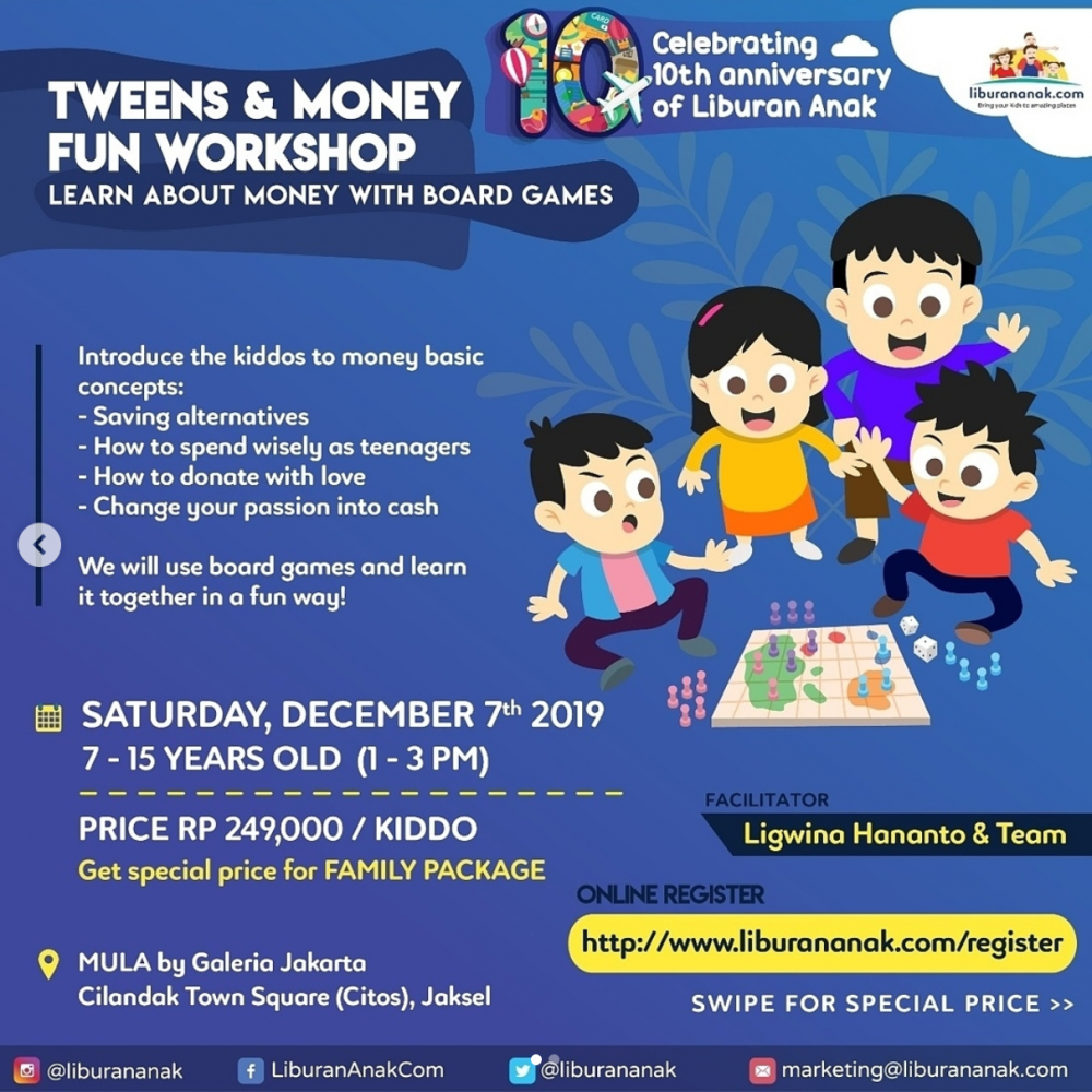 Tweens and Money Fun Workshop