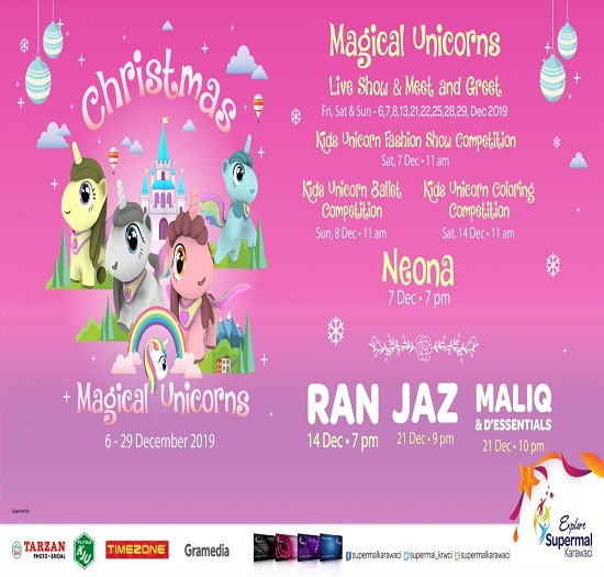 Magical Christmas in Unicorn Land Supermal Karawaci