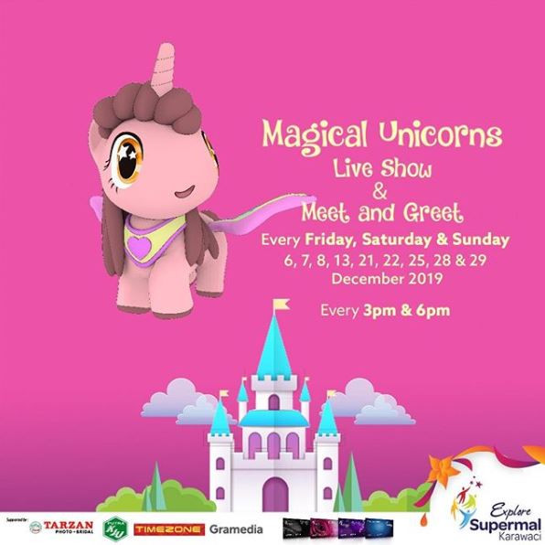 Magical Unicorns Live Show & Meet and Greet di Supermal Karawaci