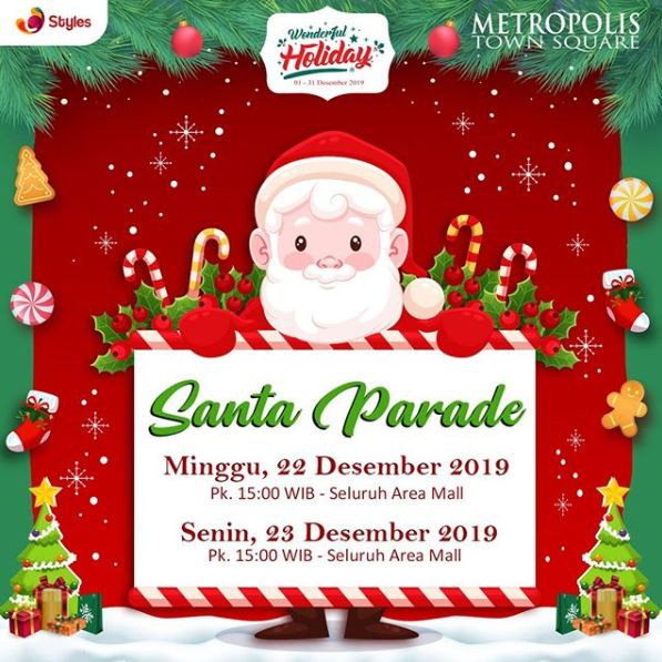 Santa Parade di Metropolis Town Square Desember 2019