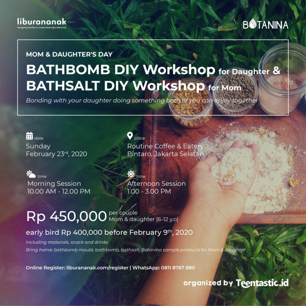Bathbomb and Bathsalt DIY Workshop for Mom and Daughters