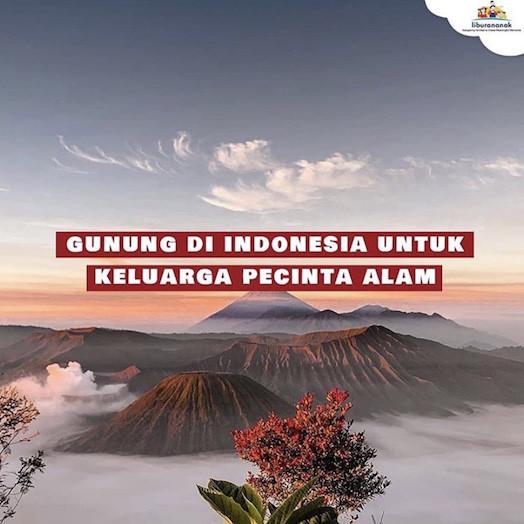 Gunung Di Indonesia Untuk Keluarga Pecinta Alam